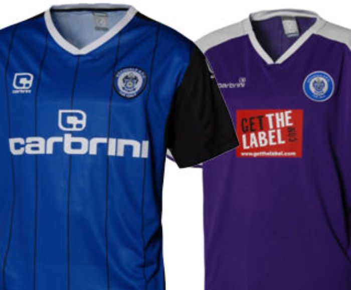 Rochdale Carbrini Home and Away shirts